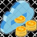 Passive Income Financial Cloud Cloud Computing Icon