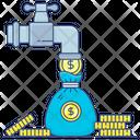 Passive Income Money Flow Cash Faucet Icon