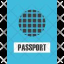 Passport Flight Vacation Icon