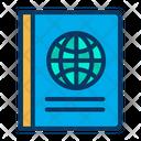 Passport Book International Passport Id Proof Icon
