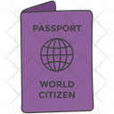 Travel Document Passport Countrys Nationality Icon