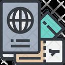 Passport Airticket Tourism Icon