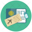Passport Plane Ticket Icon