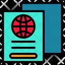 Passport Pass Book Icon