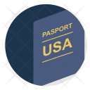 Passport Usa American Icon