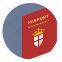 Passport England Britain Icon