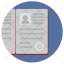 Passport Open Person Icon