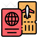 Passport Pass Boarding Icon