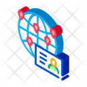 Traveler Business Card Icon