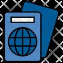 Summer Passport Travel Icon