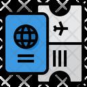 Passport Boarding Pass Ticket Icon