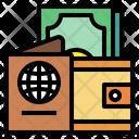 Passport Wallet Money Icon