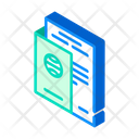 Passport Ballot Isometric Icon