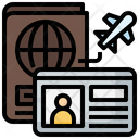Passport Flight Pass Icon