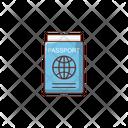 Passport Travel Tour Icon