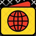 Passport Folded Paper Map Icon
