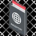 Passport International Travelling Worldwide Travel Pass Icon