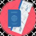 Passport Tickets Travel Icon