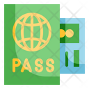 Passport Document Ticket Icon