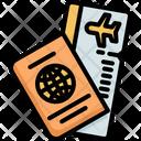 Passport Flight Ticket Icon