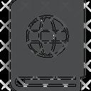 Passport Book Id Proof Document Icon