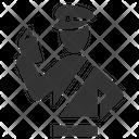 Passport Control Cop Immigration Icon