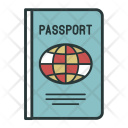 Passport Document Color Icon