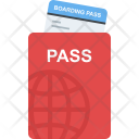 Passport With Ticket Icon