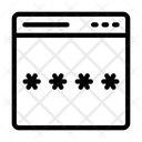 Password Lock Webpage Icon