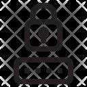 Cloud Computing Lock Icon