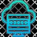 Cloud Computer Password Icon