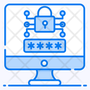 Password Encryption System Security System Protection Icon