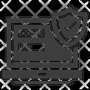 White Lock System Icon