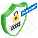 Password Protection Secure Password Security Shield Icon