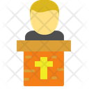 Pastor Preach Pulpit Icon