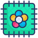Cloth Fabric Patch Icon
