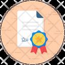 Achievement Certificate Award Certificate Certificate Icon