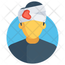 Patient Head Injury Head Bandage Icon