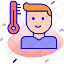 Patient Fever Testing Icon