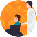 Patient Care Handicap Psychological Baggage Icon