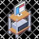 Medical Equipment Monitoring Machine Furniture Icon