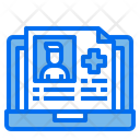 Patient Report Medical Report Laptop Icon