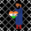 Flag Heart Celebrate Icon