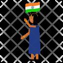 Flag Woman Patriot Icon