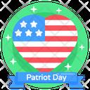 Patriot Day American Memorial Day Patriot Day Label Icon
