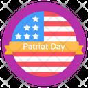 Patriotic Day American Memorial Day Patriot Day Label Icon