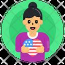 Patriotic Woman Patriotic Girl Patriotic Female Icon