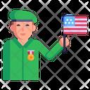 Patriotic Soldier Icon
