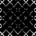 Snowflake Geometric Design Icon