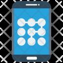 Lock Pattern Mobile Icon